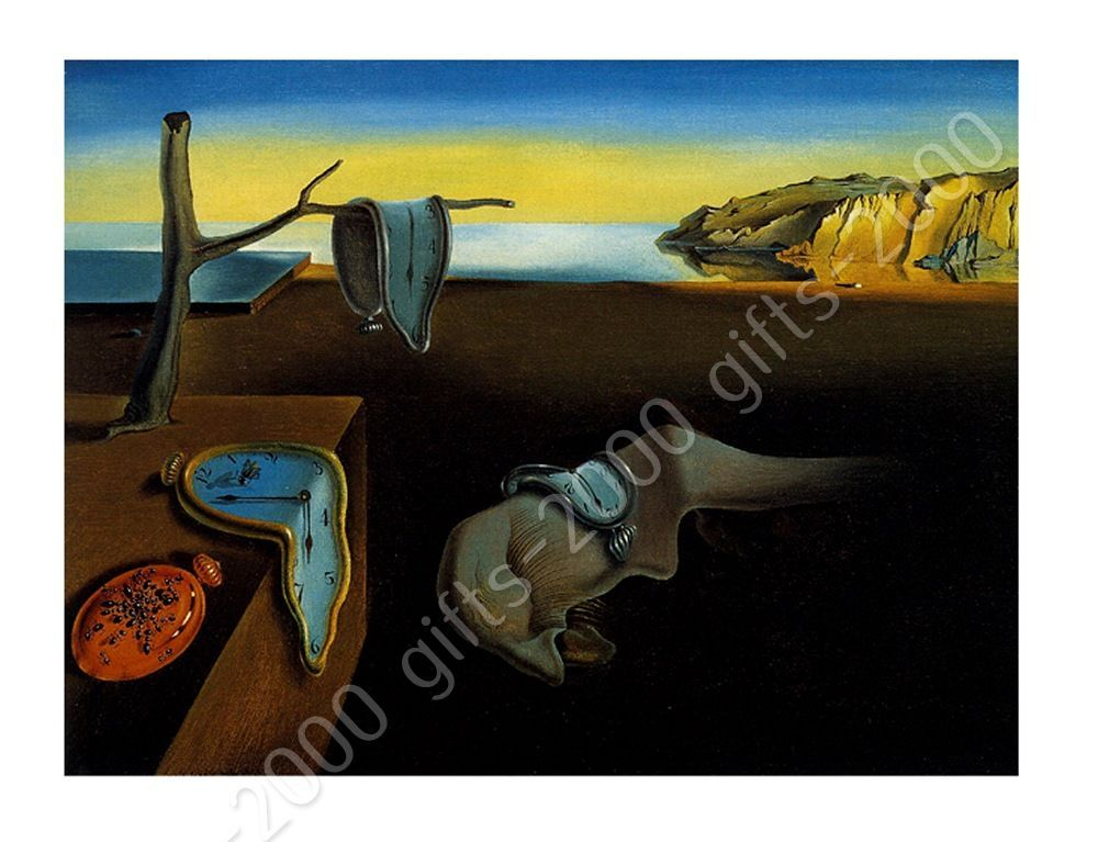Canvas rolled the persistence of memory melting clock for All of salvador dali paintings