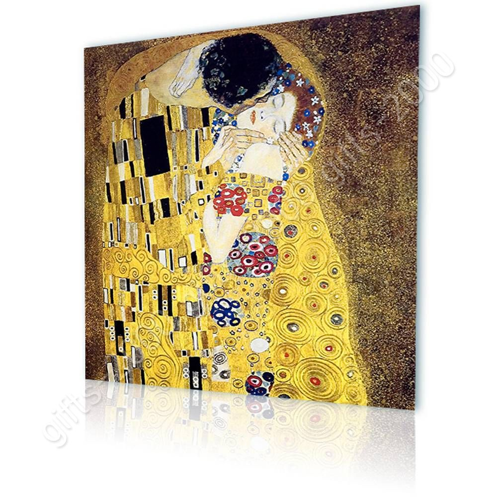 CANVAS (Rolled) The Kiss Gustav Klimt Oil Paints Wall Decor ...