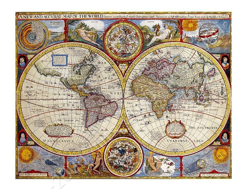Ready to hang canvas antique old vintage v1 world map framed decor ready to hang canvas antique old vintage v1 world map framed decor giclee gumiabroncs Gallery
