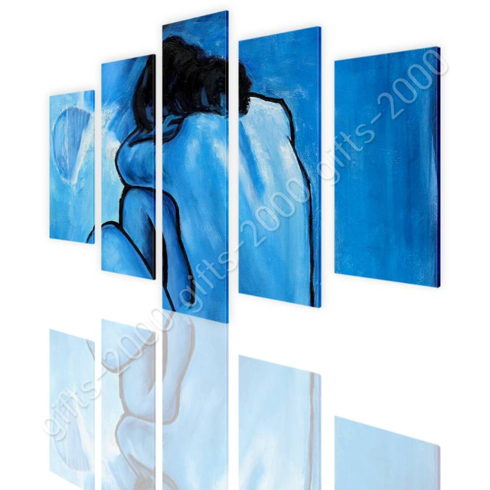 CANVAS (Rolled) Blue Nude Pablo Picasso 5 Panels Canvas For Kitchen ...