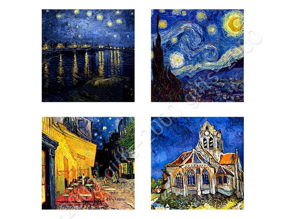 Rolled Starry Night Rhone Church Cafe by Vincent Van GoghCanvas Wall art