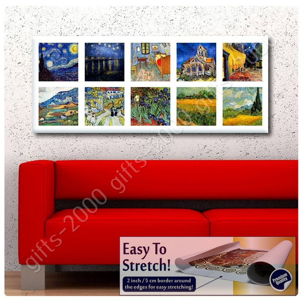 ZAB242 Van Gogh Starry Night Modern Canvas Abstract Wall Art Picture Prints