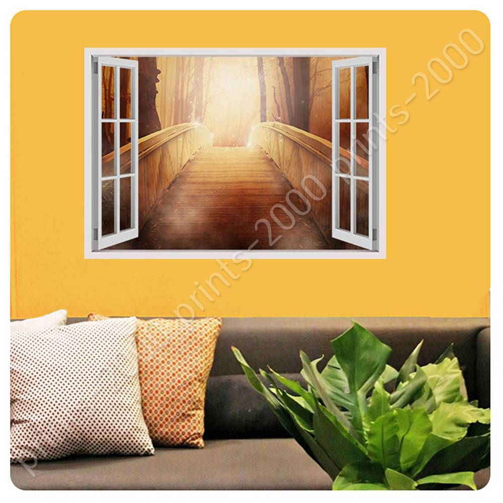 POSTER Or STICKER Decals Vinyl The Bridge To Heaven Fake 3D Window ...