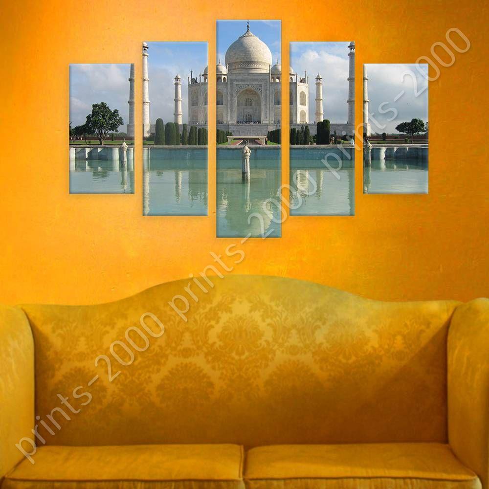 POSTER Or STICKER Decals Vinyl Taj Mahal Temple Split 5 Panels 5 ...