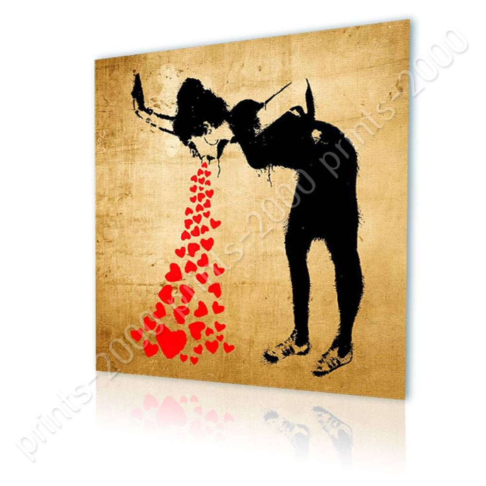POSTER Or STICKER Decals Vinyl Lovesick Banksy Wall Decor Posters ...