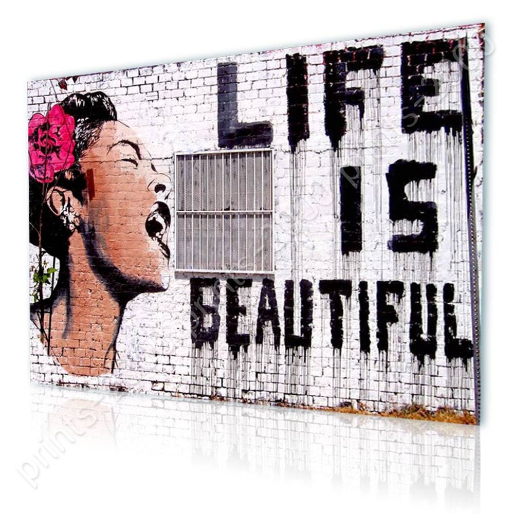 Life Is Beautiful by BanksyPoster or Wall Sticker DecalWall art artwork
