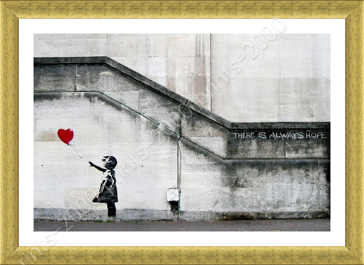 There Is Always Hope by Banksy   Framed canvas   Wall art oil ...