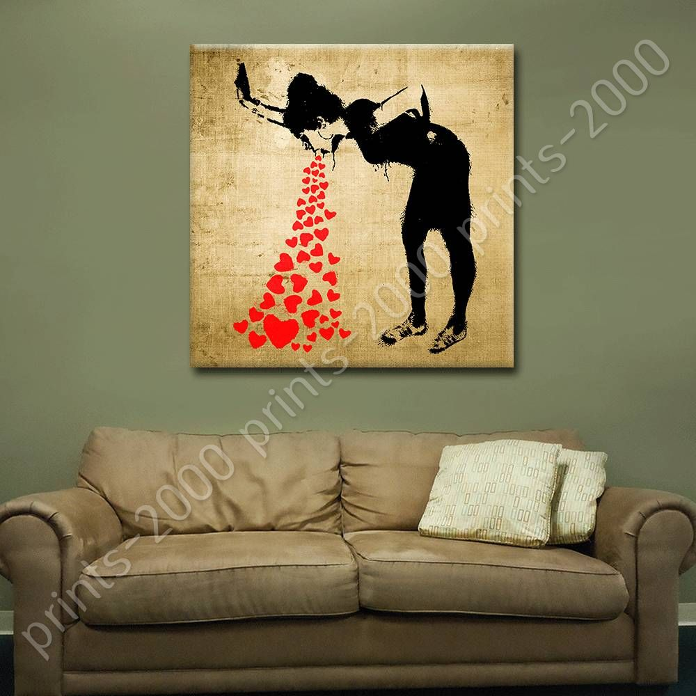 poster or sticker decals vinyl lovesick banksy wall decor posters for bedroom ebay. Black Bedroom Furniture Sets. Home Design Ideas