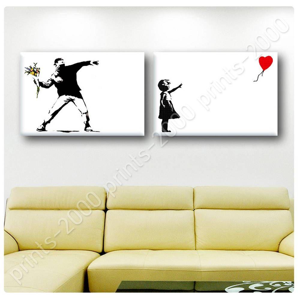 POSTER Or STICKER Decals Vinyl Flower Thrower Girl With Balloon ...