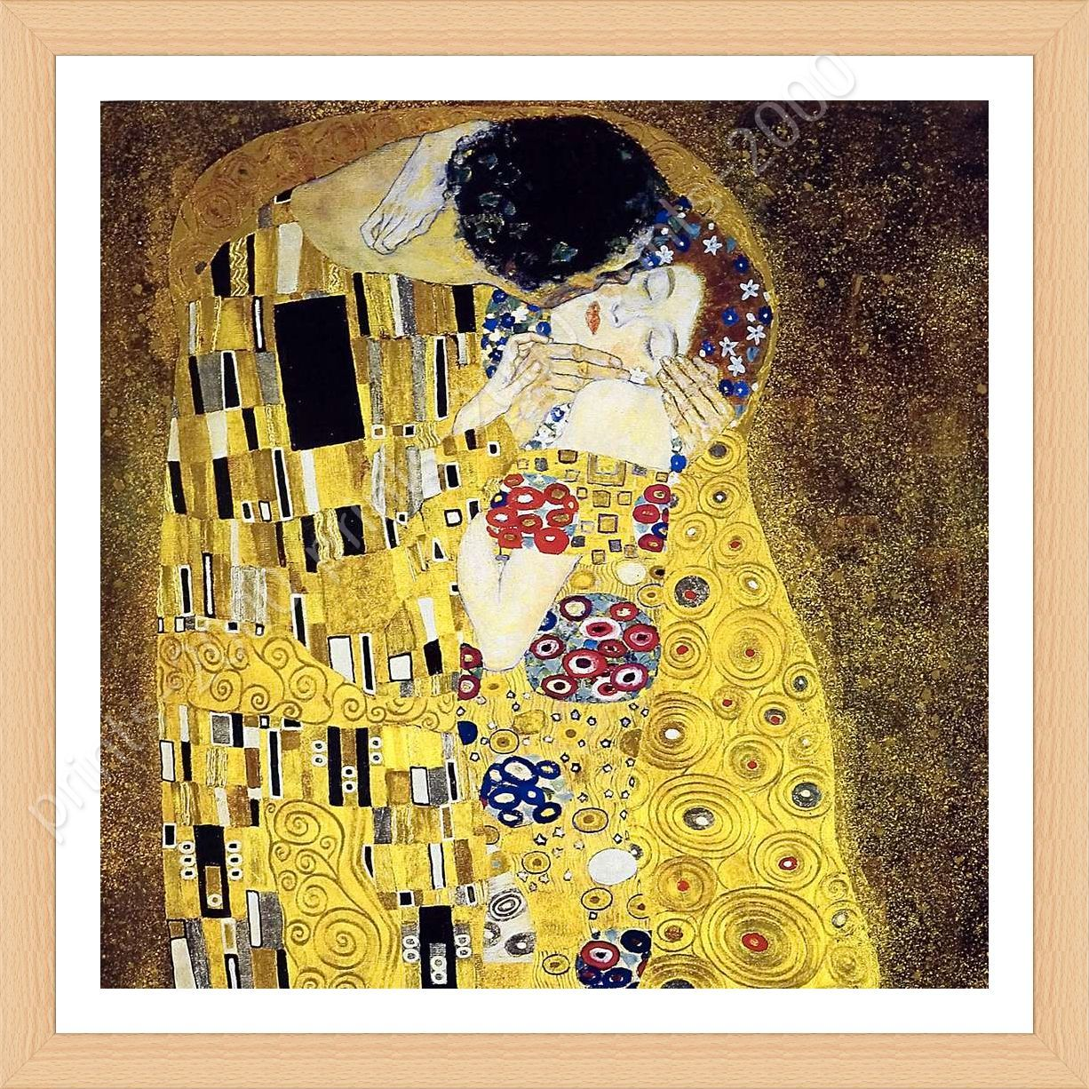 FRAMED Poster The Kiss Gustav Klimt Framed Decor Framed Paints ...