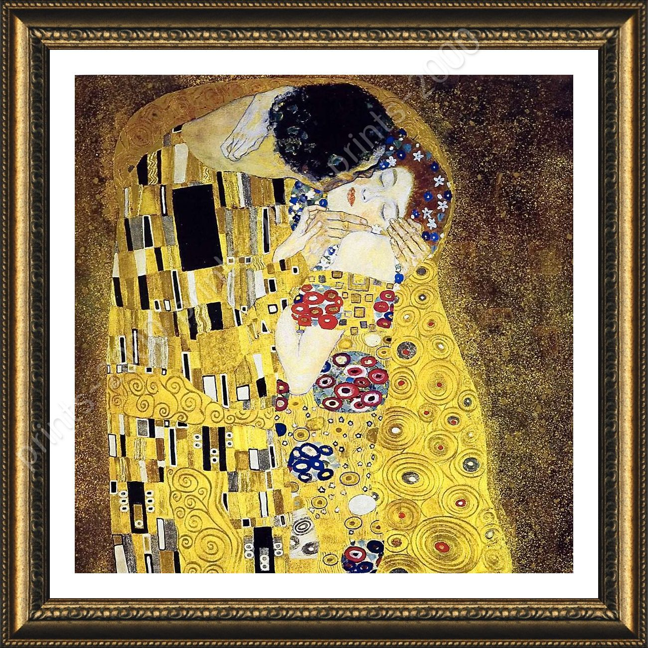 FRAMED Poster The Kiss Gustav Klimt For Bedroom Giclee Framed ...
