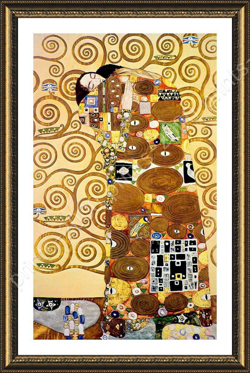 The Embrace by Gustav Klimt | Framed canvas | Wall Art Bedroom Porch ...