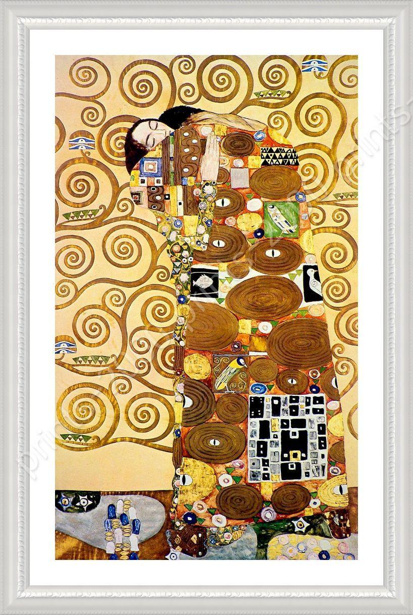 The Embrace by Gustav Klimt   Framed canvas   Wall Art Bedroom Porch ...