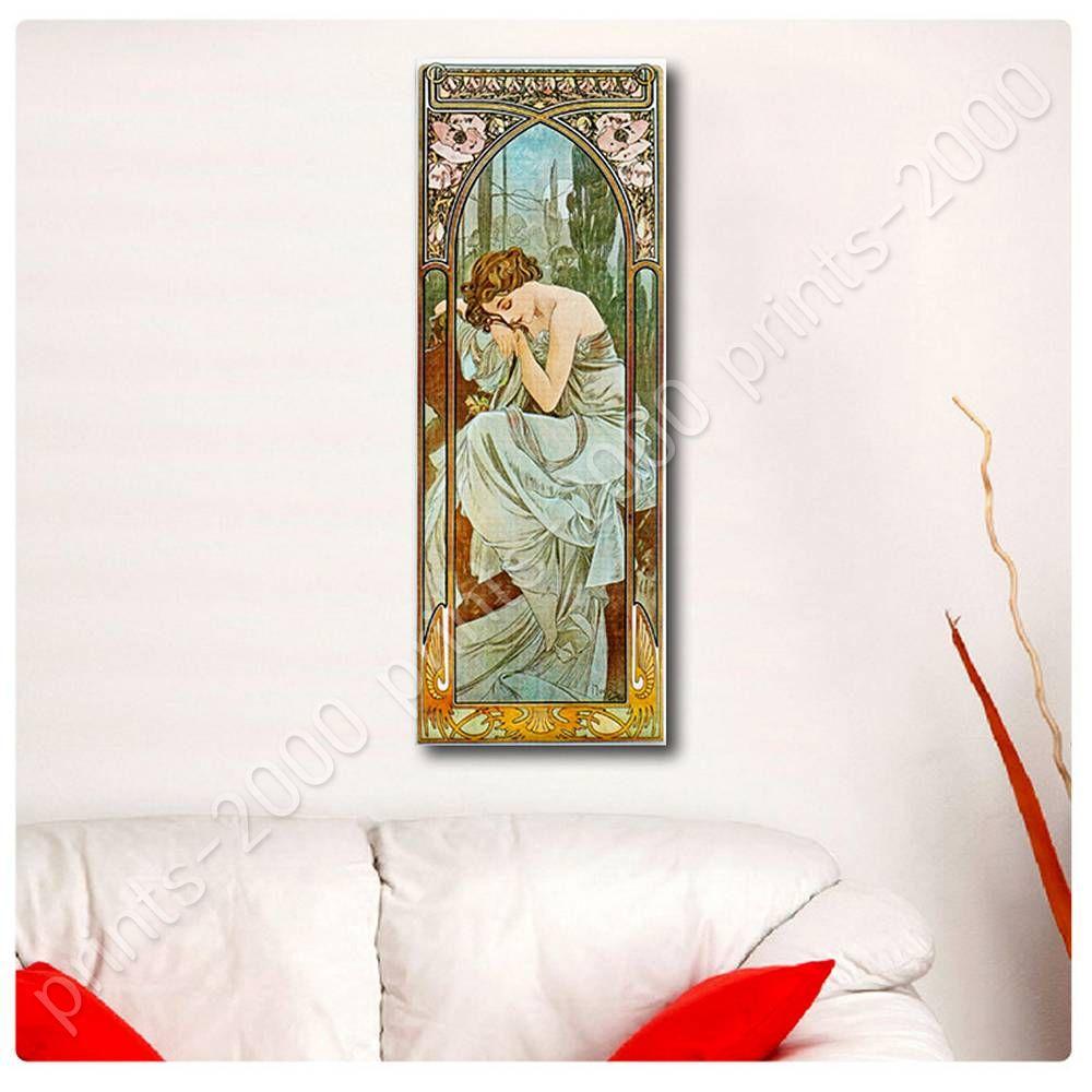Repos-De-La-Nuit-by-Alphonse-Mucha-Poster-or-Wall-Sticker-Decal-Wall-art miniature 9