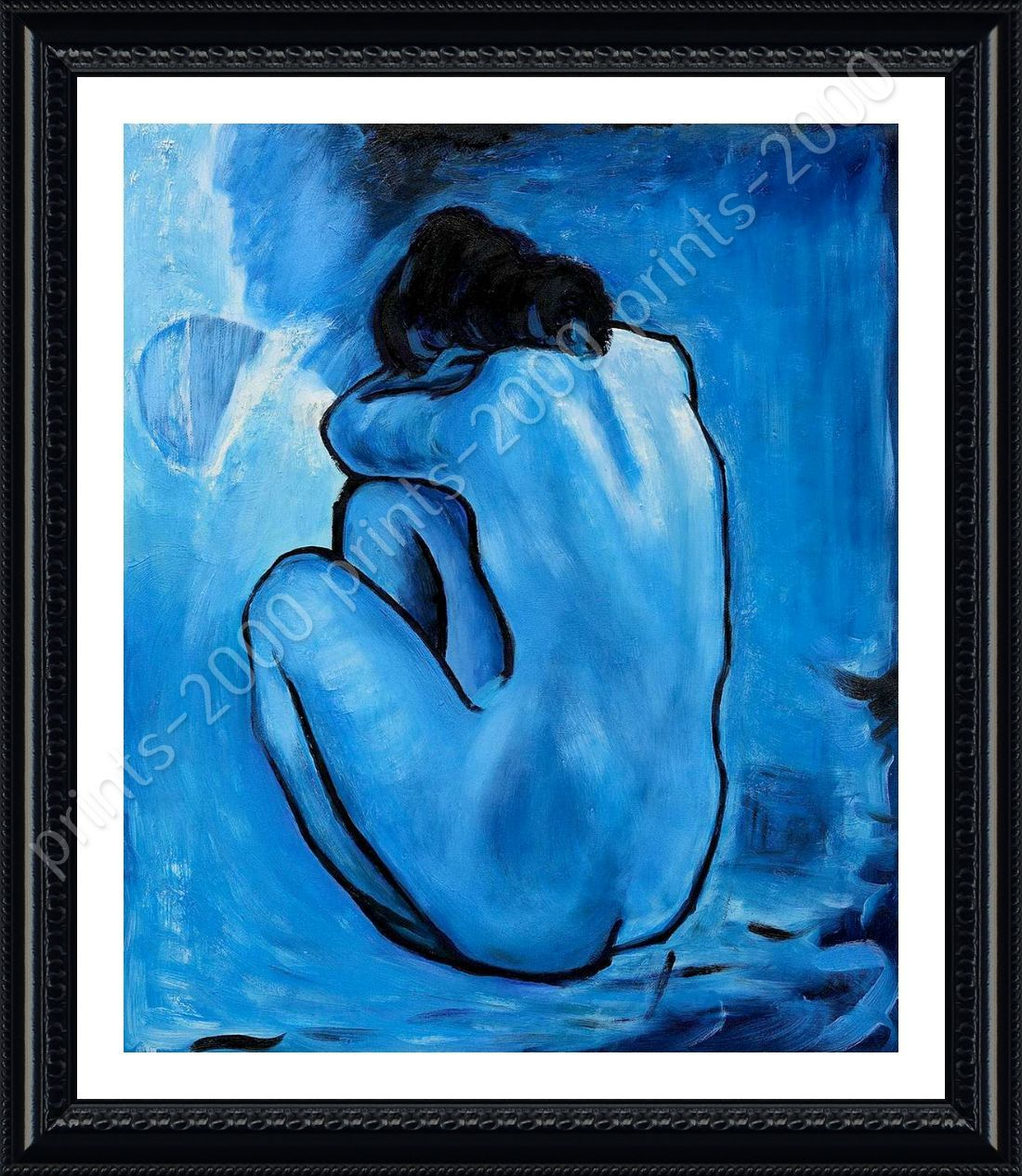 FRAMED Poster Blue Nude Pablo Picasso Framed Art Oil Paintings ...