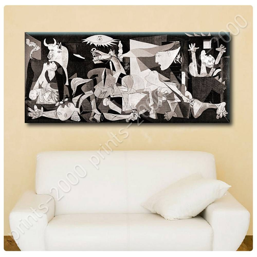 Poster or sticker decals vinyl guernica pablo picasso for Custom vinyl mural prints